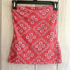 Nollie Red Geometric Tube Top